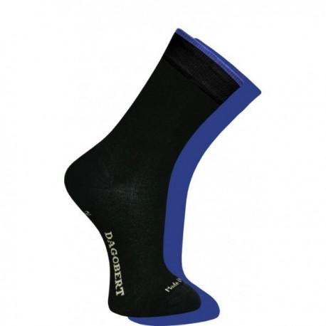 Chaussettes Adulte Réversibles Noir/bleu -Dagobert